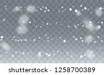 falling snow background. winter ... | Shutterstock .eps vector #1258700389