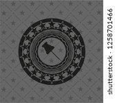 paper pin icon inside dark...   Shutterstock .eps vector #1258701466