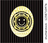 happy face icon inside shiny...   Shutterstock .eps vector #1258710976