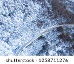 late autumn snow on mountain... | Shutterstock . vector #1258711276