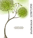 card with stylized tree and text | Shutterstock .eps vector #125871950