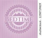 bedtime badge with pink...   Shutterstock .eps vector #1258719829