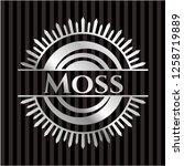 moss silver shiny badge   Shutterstock .eps vector #1258719889