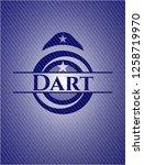 dart badge with denim texture   Shutterstock .eps vector #1258719970