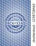 monday blue badge with...   Shutterstock .eps vector #1258728463