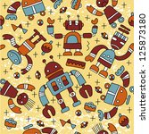 seamless pattern with colorful... | Shutterstock .eps vector #125873180