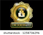 gold badge with man working on ...   Shutterstock .eps vector #1258736296