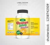 bottle label  package template... | Shutterstock .eps vector #1258742509