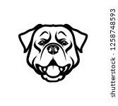 rottweiler dog   isolated...   Shutterstock .eps vector #1258748593