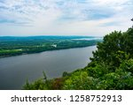 Great River Bluffs State Park Outlook Over Mississippi River in Minnesota