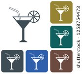 cocktail glass sign with...   Shutterstock .eps vector #1258754473