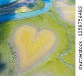 heart of voh  aerial view ...   Shutterstock . vector #1258756483