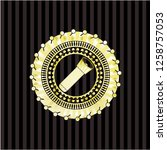 flashlight icon inside gold...   Shutterstock .eps vector #1258757053
