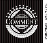 comment silvery badge or emblem   Shutterstock .eps vector #1258757143