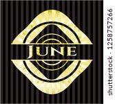 june gold badge   Shutterstock .eps vector #1258757266