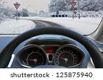car drivers view through the... | Shutterstock . vector #125875940