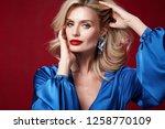 portrait beautiful sexy pretty... | Shutterstock . vector #1258770109