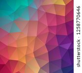 low poly background in pastel... | Shutterstock .eps vector #1258770646
