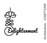 word enlightenment and buddhist ... | Shutterstock .eps vector #1258772209
