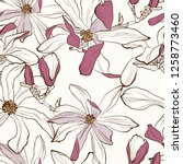 seamless floral pattern with... | Shutterstock .eps vector #1258773460