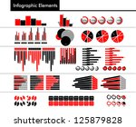 infographic in black  red and... | Shutterstock .eps vector #125879828