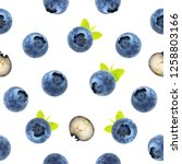 Blueberry Seamless Pattern. Fo...