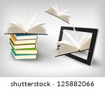 Books Flying In A Tablet....