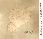 old syria map with vintage... | Shutterstock .eps vector #1258833769