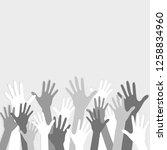 hands.volunteering. image in... | Shutterstock .eps vector #1258834960