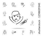 dracula avatar sketch style... | Shutterstock .eps vector #1258839340
