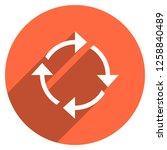 arrow sign reload  refresh ... | Shutterstock .eps vector #1258840489