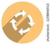 arrow sign reload  refresh ... | Shutterstock .eps vector #1258840513