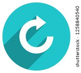 arrow sign reload  refresh ... | Shutterstock .eps vector #1258840540