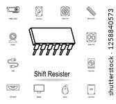 shift register icon. detailed...