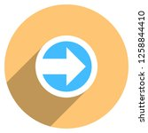 arrow sign direction icon in... | Shutterstock .eps vector #1258844410