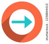 arrow sign direction icon in... | Shutterstock .eps vector #1258844413