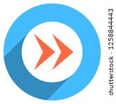 arrow sign direction icon in... | Shutterstock .eps vector #1258844443