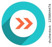 arrow sign direction icon in... | Shutterstock .eps vector #1258844476