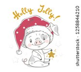 vector illustration of a cute... | Shutterstock .eps vector #1258846210
