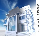 presentation of residential...   Shutterstock . vector #125886863