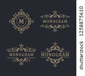 pack of elegant ornament | Shutterstock .eps vector #1258875610