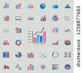 combined chart icon. charts  ...   Shutterstock . vector #1258877683