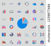 3d pie chart icon. charts  ... | Shutterstock . vector #1258877686