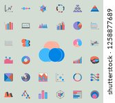 bubble chart icon. charts  ... | Shutterstock . vector #1258877689