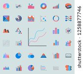 comparative chart icon. charts  ... | Shutterstock . vector #1258877746