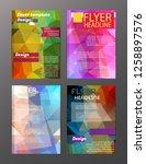 vector brochure flyer design... | Shutterstock .eps vector #1258897576