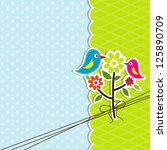 template greeting card  vector... | Shutterstock .eps vector #125890709