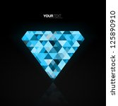 abstract blue diamond... | Shutterstock .eps vector #125890910