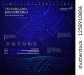 technology interface backgound... | Shutterstock .eps vector #1258910806