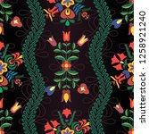 hungarian stylized seamless... | Shutterstock .eps vector #1258921240
